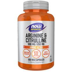 Arginine 500 mg & Citrulline 250 mg 120 caps